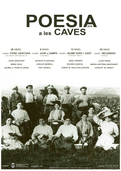 Poesia a les caves cartell