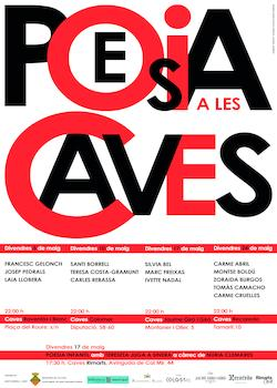 Cartell Poesia a les caves 2019